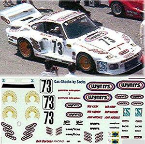 Porsche 935 Wynn International Imsa 1:24 Autocollant Décalcomanie