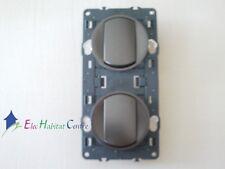 Interrupteur + bouton poussoir Céliane graphite 67001+67031+64900x2+80252