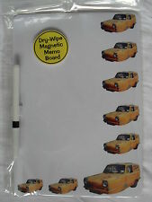 DEL BOY YELLOW RELIANT REGAL CAR DRY WIPE MAGNETIC FRIDGE MEMO BOARD + PEN.NEW