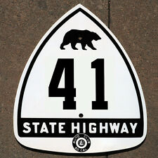 California ACSC bear route 41 highway road sign auto club AAA James Dean Fresno