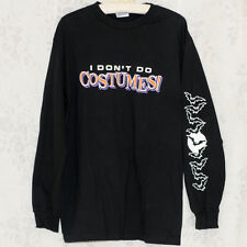 Mens Womens I Don't Do Costumes Long Sleeve Black T Shirt Bats Moon Large