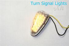 1 Clear Flush mount Motorcycle LED Turn Signals Blinker Lights Universal bike
