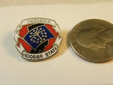 INDIANA HOOSIER STATE TRAVEL PIN