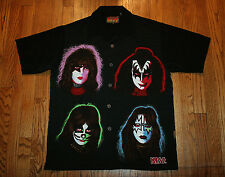 KISS Dragonfly Shirt Men's Medium Stanley-Simmons-Solo face buttons 2001 vintage