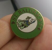 Vtg St. Baldricks Super Hero pin button pinback Conquer Childrens Cancer *GG