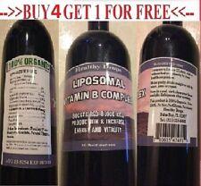 LIPOSOMAL VITAMIN B COMPLEX B1 B2 B3 B5 B6 B7 B8 B9 B12 METHYL 100% ORGANIC 16oz
