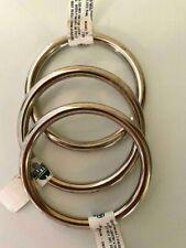 "3 pcs. 3"" X 1Ga. Hillman Welded Steel O-Rings 3"" Id. / 3-5/8"" Od. Nickel Plated"