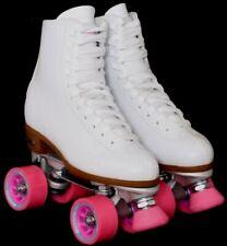 New Chicago Csr400 Classic Quad White Leather Rink Roller Skates Women's Us 7