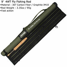 9FT 4 WT Fly Rod 36T Carbon Fiber /Graphite IM10  Fast Action Fly Fishing Rod