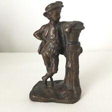 Statuette en Bronze XIXè Napoléon III Jeune Garçon Style XVIIIè Victorian 19th C