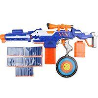 Electronic Submachine Gun Toy Suit for NERF Soft Bullet Gun Rival Elite Series