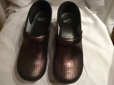 Dansko Clogs - Professional Sequins White Gold - size 40- w/ box