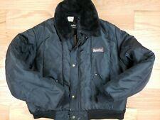 Men RefrigiWear Insulated nylon Workwear Jacket Black Size2 XL XXL USA made