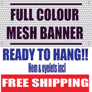 2ftx8ft PVC Mesh Banners Scaffolding Banner full colour-printed Free Shipping