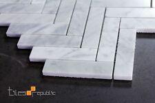 Carrara Mosaic Herringbone style 280x320 sheet