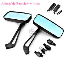 Rectangle Rear View Mirrors For Suzuki Marauder VZ 800 1600 Savage LS 650 Bobber