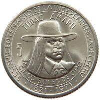 PERU 5 SOLES 1971 TOP #s70 299