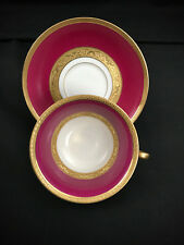FRENCH LIMOGES CUP SAUCER PINK GOLD 3 Piece Set