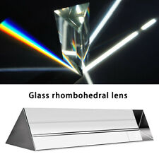 Optical Glass Triangular Prism for Photography Teaching Light Spectrum