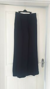 Size 8 Flared Trousers REISS Navy high waist
