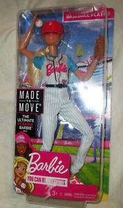 Barbie You Can Be Anything Baseball Player Doll NEW