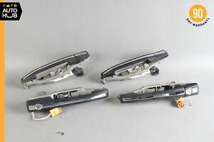 89-95 Mercedes W124 300TE E320 300E Exterior Door Handle Set of 4 w/ Key OEM