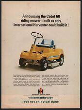 1968 INTERNATIONAL HARVESTER Cadet 60 Garden Tractor Riding Lawn Mower AD