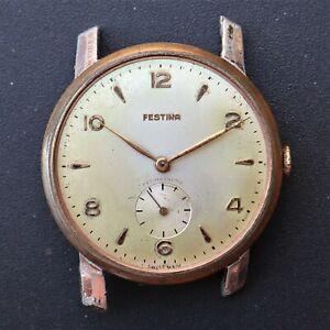 FESTINA Large Vintage Watch eta 1120 Reloj Montre Orologio Uhr Swiss