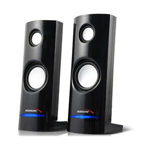 PC Computer Speakers 2.0 Stereo 8W USB 3.5 mm Jack Desktop Laptop Clear Sound UK
