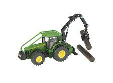 John Deere 8430 Tractor con Forestal Grúa 1:50 Juguete Regalo Navidad