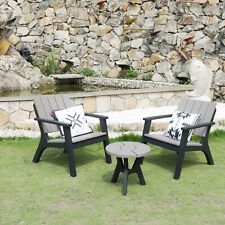 3pc Patio Bistro Set Outdoor Garden Furniture Set w/ Table and Chairs