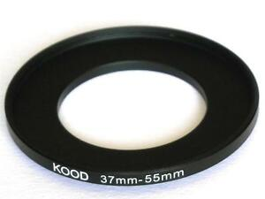STEP UP ADAPTER 37MM-55MM STEPPING RING 37MM TO 55MM 37-55 FILTER ADAPTER