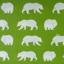 Grün Weiß Bären Bär Patchworkstoff Bio-Stoff Baumwollstoff