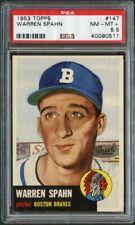 1953 Topps 147 Warren Spahn Braves PSA 8.5 40090511