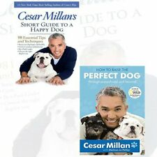 Cesar Millan Collection 2 Books Set Short Guide to a Happy Dog, Perfect Dog NEW
