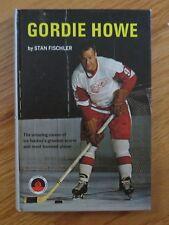 """GORDIE HOWE """"Mr Hockey"""" signed 1967 DETROIT RED WINGS Book by Stan Fischler JSA"""