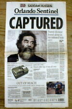 2003 headline display newspaper IRAQ WAR Saddam Hussein Captured by US forces