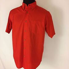 IVY CREW MENS SIZE MEDIUM BRIGHT RED SHORT SLEEVE NICE CASUAL BUTTON SHIRT