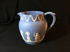 Vintage Wedgwood Jasperware Blue and White (Lavender) Jug/Pitcher