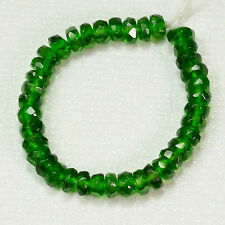 "3.5mm-4mm Siberian Chrome Diopside Faceted Rondelle Bead 3"" Strand"