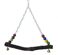 balançoire oiseau perroquet perruches ondulées Bois Tube de selle jouet cage