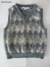 Jacadi**Pull sans manches 12 mois/74 cm Gris 100% Laine mérinos/Merino wool