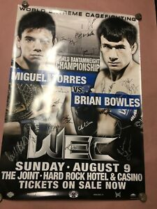 WEC42 World Bantamweight Championship Signed Poster, Signed By All Fighters