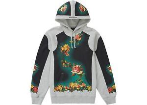 SUPREME Jean Paul Gaultier Floral Print Hooded Sweatshirt Heather Grey Brand New