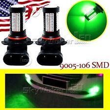 2pcs Green HB3 9005 LED For Car Fog Light High Power Bulb Lamp 106SMD Truck DRL