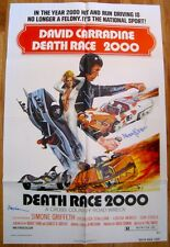 "DEATHRACE 2000 (1975) ORIGINAL 27"" X 41"" POSTER SIGNED by ROGER CORMAN & WORONOV"