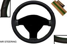 Cuero de lujo cubierta del volante para Ford Transit Conectar I 02-12 verde Puntada
