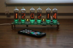 Nixie tube clock || Assembled but WITHOUT IN-14 tubes || Remote || Temperature