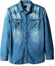 Lee Tops Mens Big Heritage Western Long Sleeve Denim Shirt- Pick SZ/Color