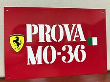 Prova Mo 36  Reproduction  ITALIAN  Racing Ferrari  Garage Sign